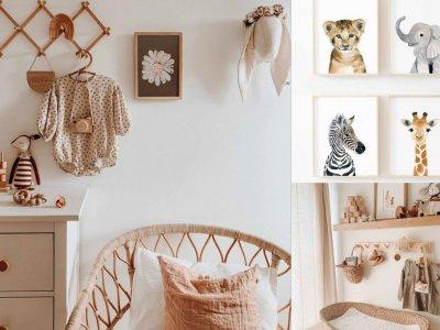 Babyzimmer im BOHO Stil – Unser Moodboard