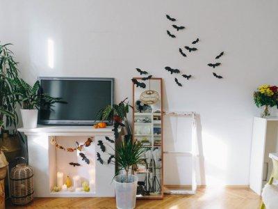 Halloween: DIY Fledermäuse Wand