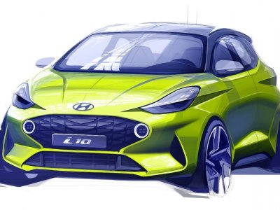 Hyundai zeigt erste Designskizze des neuen i10