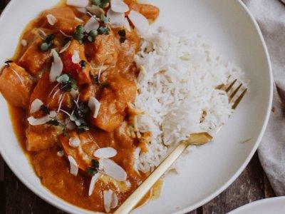 Rezept: veganes Kürbis Mango Curry