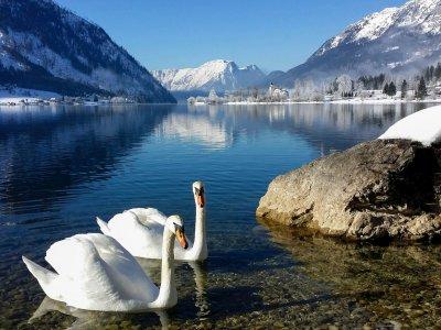Winterliche Bergseewanderungen in Österreich