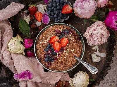 Cremiges Schoko Porridge mit Milka Haselnusscreme
