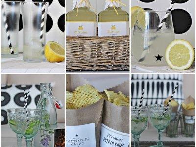 Limonade selber machen und praktische Snack Tüten zum Nachmachen