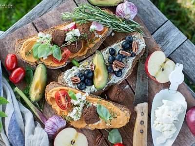 Sommer Picknick Brote