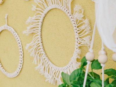DIY Makramee: Wandbehang am Ring mit Fransen