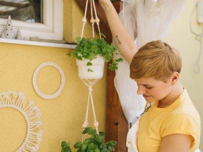 DIY Makramee: Blumenampel