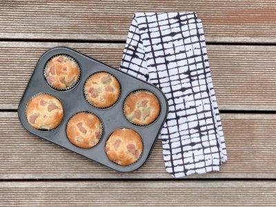 Kinderleichte Rhabarber Muffins mit Dinkelmehl