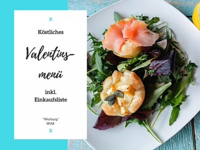Köstliches Valentinsmenü, inkl. Einkaufsliste für SPAR
