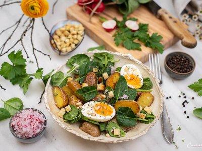 Frühlings-Kartoffelsalat mit Radieschen-Dressing