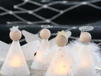 DIY Lichterengel und Adventskranz ohne Tannengrün