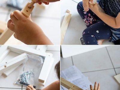 Lernturm für Kleinkinder selber bauen: Ikea Hack
