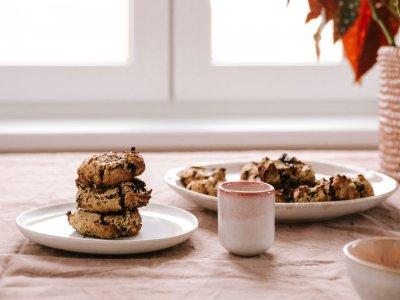 Vegane Kichererbsen Schokoladen Cookies