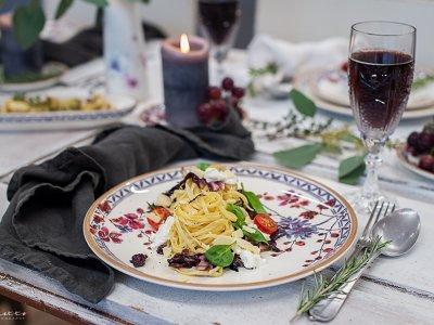 Nudeln mit Radicchio & Burrata