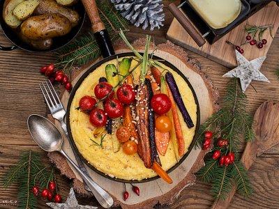 Schweizer Raclette mit Polenta & Gemüse