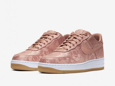 CLOT x Nike Air Force 1 Low – Rose Gold Silk