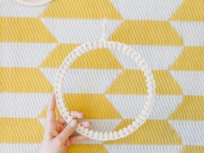 DIY Makramee: Wandbehang am Ring für Anfänger