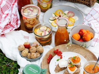 ZEIT FÜR EIN BUNTES EINWECK PICKNICK! …mit selbst gemachtem Ketchup, Hirsebällchen, Marillen-Chutney und süß-saurem eingelegtem Gemüse