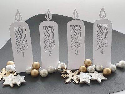 Papercut: DIY-Adventskranz aus Papier