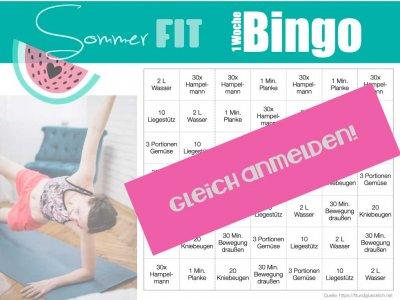 Sommer Fit Bingo (+Gewinnspiel)