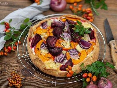 Herbst Galette mit Kürbis und Käse