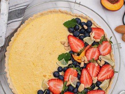 Vegane Melonen Mango Tarte