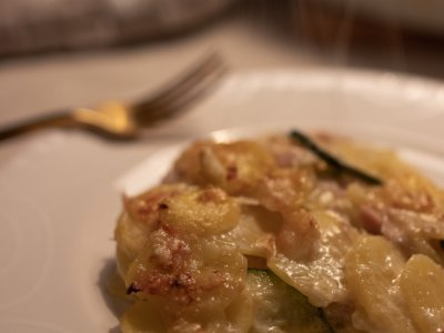 Rezept: Zucchini-Kartoffel Gratin