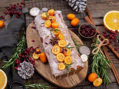 Orangen Cranberry Brot & {Blut-}Orangen Sorbet